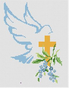 Hi Is Risen free cross stitch pattern