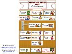 Free: Here's a Pinterest inspired Door Decore that you can print and use to decorate your classroom door.