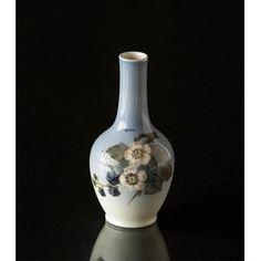 Vase with Blackberry branch with berries, Royal Copenhagen