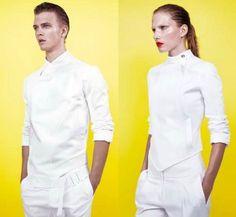 chaquetilla esgrima. fencing jacket. moda. fashion