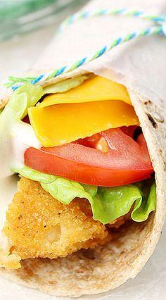 Crispy Chicken Snack Wraps
