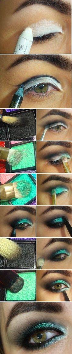 GreenWash Mint Makeup Tutorials | Love Makeup / Best LoLus Makeup Fashion: (Makeup Step)