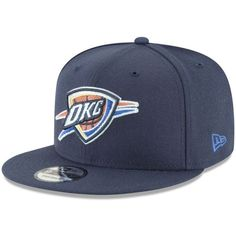New Era Oklahoma City Thunder Team Metallic 9FIFTY Snapback Cap (433.880 IDR) ❤ liked on Polyvore featuring men's fashion, men's accessories, men's hats, mens snapback hats, mens sports hats and mens caps and hats