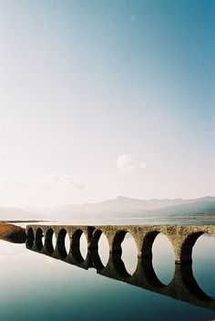 The Taushubetsu-Bridge at Nukabirako-Lake, Hokkaido, Japan. Bounce your Waboba on the water to go under or over the bridge! Places To Travel, Places To See, Places Around The World, Around The Worlds, Beautiful World, Beautiful Places, Wonders Of The World, Wanderlust, Destinations