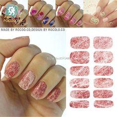 Marble Design Nail Wraps (13 colors)
