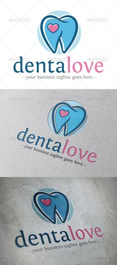Dental Love  - Logo Design Template Vector #logotype Download it here: http://graphicriver.net/item/dental-love-logo/5365594?s_rank=1346?ref=nexion