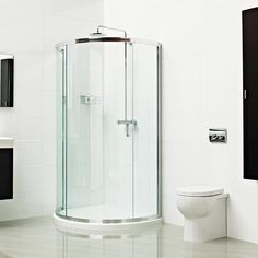 Lumin8 Bow Fronted Quadrant Shower Enclosure --- Make the most out of your available space with this intelligent and elegant Lumin8 Bow Fronted Quadrant--- Available from Roman Ltd - British Made Luxury Shower Enclosures and Bath Screens. Images Copyright www.roman-showers.com