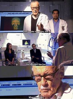 "Stan Lee on Eureka .... 0_0 -type-moment ""Don't make me angry, son. You wouldn't like me when I'm angry"""