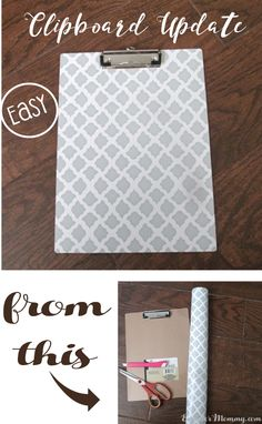 Looking for a way to spruce up those dollar store clipboards? You will not believe how easy and fun this technique is!