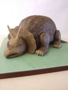 Triceratops Cake - Could be wee mans third b'day cake.