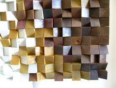 """Panel """"Jazz"""",The workpiece is assembled of wooden bricks of varying heights. Such a structure create volume and immersive effect in your space.#wallpanels #woodpanels #reclaimedwood #woodwallsculpture #wood #drovitnya #деревянныепанели #декор #декордлястен #дизайнинтерьера #3dpanel"""