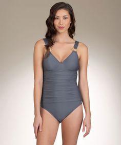 Athena Women's Grey Heavenly One Piece Bathing Suit