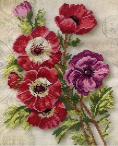 Butterfly Cross Stitch, Cross Stitch Bird, Cross Stitch Borders, Cross Stitch Flowers, Cross Stitch Designs, Cross Stitch Patterns, Hand Embroidery Flowers, Ribbon Embroidery, Cross Stitch Embroidery
