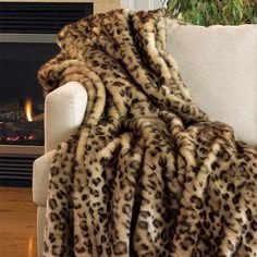 I pinned this Faux Leopard Throw from the Fabulous Furs event at Joss and Main!