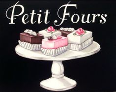 vintage bakery inspired petit fours menu board matted print M by Everyday is a Holiday