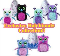 EXSCLUSIVES HATCHIMALS SET OF 3! 2016 TOY OF THE YEAR *HOTTEST CHRISTMAS GIFT* #SpinMaster