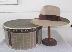 18102f74095 1940s Vintage Mr. Disney Gray Fedora Hat in by MyVintageHatShop 1940s Mens  Fashion