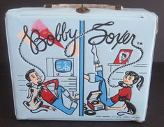 vintage bobby soxer vinyl lunchbox so cool.