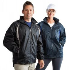 Explorer Jacket Heat-sealed seams for waterproofing.  2 hidden pockets. Internal left chest pocket. Reflective piping available on Black/Silver colourway. Unisex. Elasticated cuffs. Concealed embroidery zips. Concealed hood with drawstring in collar. Nylon with PU coating. Features: Colours: Black/red | Black/Silver | Navy/Royal. (J595_LEGEND) Red Black, Black Silver, Promotional Clothing, Staff Uniforms, Rain Jacket, Cuffs, Windbreaker, Raincoat, Colours