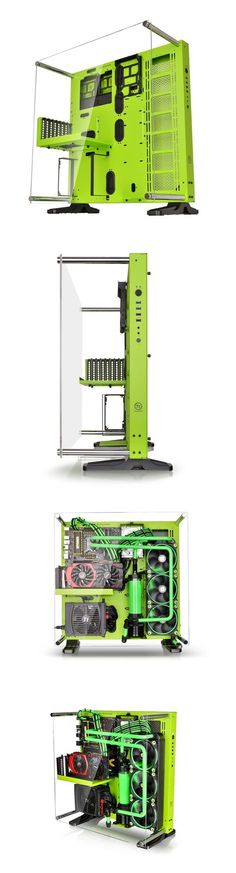 Thermaltake CORE P5 Green Edition ATX Open Frame Mid Tower Liquid Cooling Computer Case