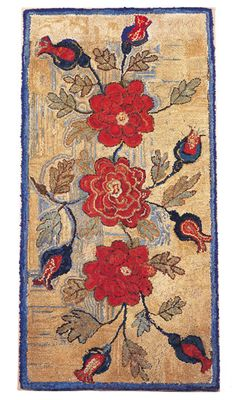 Antiques & Fine Art - Garthoeffner Gallery Antiques - An Extraordinary Hooked Rug