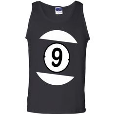 9 BALL POOL BILLIARD AMERICAN APPAREL AA SHIRT G220 Gildan 100% Cotton Tank Top