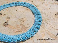 Woven blue necklace  biserok.com -   see diagram