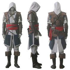 Assassin's Creed IV 4 Black Flag Edward Kenway Cosplay Costume Whole Set Custom Made