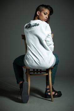 #Derriere fall/winter 2014 #dderriere #denim #jeans #Felpa #Sweater mod. #Derriére #SweatGrey - #GreenWoolPocket #Pantalone #Pant mod. #CarrotWool - #EarGreen