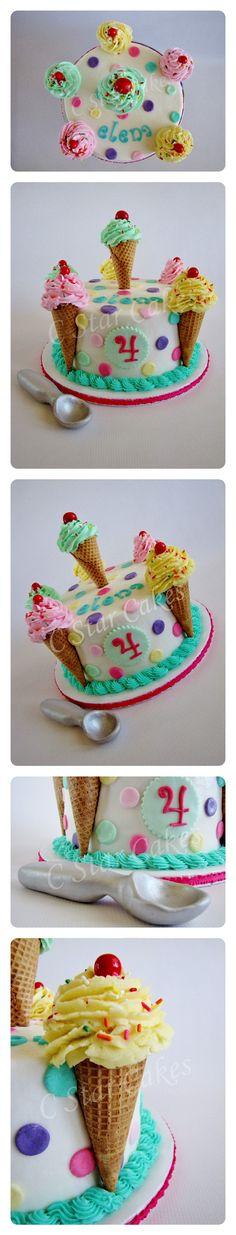 Ice Cream Cone cake by C Star Cakes #cstarcakes #icecreamcake