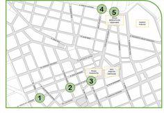 Implantação de Calçadas Verdes no Centro de Curitiba. Pontos estratégicos.
