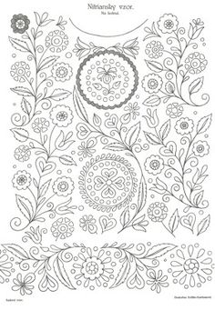 Embroidery Transfers, Embroidery Stitches, Embroidery Patterns, Hungarian Embroidery, Vintage Embroidery, Coloring Pages, Tapestry, Drawings, Crafts