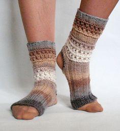 Yoga Socks Dance Pilates Ballet Brown Beige Gray by Initasworks