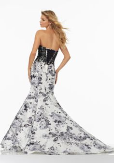 Floral Printed Larissa Satin Prom Dress | Style 99150 | Morilee