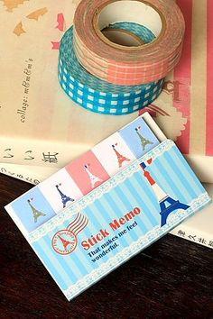 Kawaii Japanese Sticky Memo - France