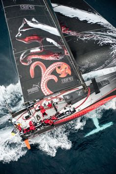 PUMA\u2019s Mar Mostro has won the Leg 3 IWC Speed Record Challenge with a 24-hour run of 355.89 nautical miles. (photo: Paul Todd/Volvo Ocean Race)