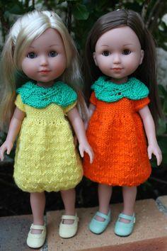 Tuto robes orange ou citron pour poupées Les Chéries, Paola Reina, Hearts for Hearts