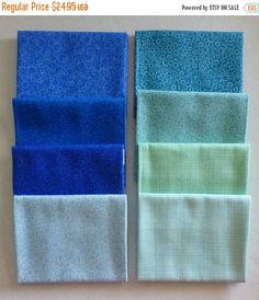 YEAR END SALE Basically Patrick Lose by Rjr Fabrics~Cotton Fabric~Blue #2~Fat Quarter Bundle of 8~Fast Shipping Fq545