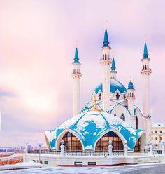 A Beautiful Mosque in Kazan, Tatarstan!   #MashaAllah