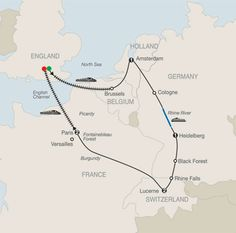 Globus European Sampler : 7 days London, Brussels, Amsterdam, Cologne, Rhine Cruise, Heidelberg, Black Forest, Rhine Falls, Lucerne, Paris