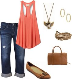 """Cropped Jeans"" by mrscosentino on Polyvore"