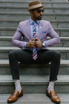 Here's an example of a colorful outfit that'll make you stand out!