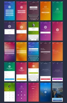 Chameleon is a modern mobile UI kit for Sketch and Photoshop. With 120 beautiful screens in 9 categories, 15 unique themes, icons and hundreds of neatly organized components you can easily create design for your mobile app. Ios App Design, Mobile App Design, Login Design, Iphone App Design, Android App Design, Mobile App Ui, Interface Design, Design Design, Ui Design Tutorial