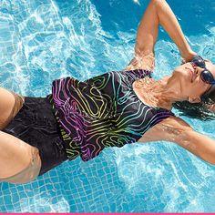 Tankini, Trunks, Swimming, Swimwear, Fashion, Drift Wood, Swim, Bathing Suits, Moda