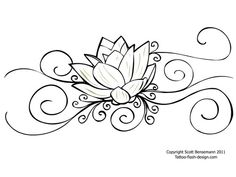 Lotus tattoo..this one could almost be added onto my shoulder piece.  Very neat draw up.