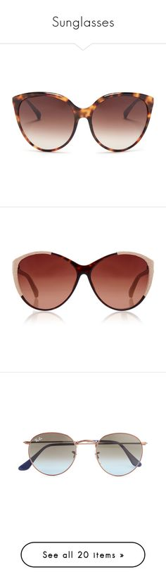 """Sunglasses"" by luluuuuuuuuuu ❤ liked on Polyvore featuring accessories, eyewear, sunglasses, brown, oversized cateye sunglasses, oversized round sunglasses, round tortoiseshell sunglasses, tortoiseshell sunglasses, cat eye sunglasses and occhiali"