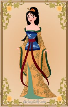 Mulan in her new re-vamped look. Made with Azaleas Dolls', Heroine Creator. Mulan { New Look } Disney Pixar, Disney Fan Art, Disney Style, Disney Love, Disney Ideas, Alternative Disney Princesses, Punk Disney Princesses, Disney Characters, Art Nouveau Disney