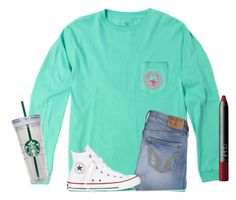 I'm so close to 700 followers  by texasgirlfashion on Polyvore featuring Converse, NARS Cosmetics and Hollister Co.