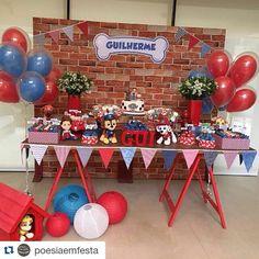 """91 Likes, 1 Comments - Inspirações para festas  (@carolfesteira) on Instagram: """"Patrulha charmosa! #Repost @poesiaemfesta with @repostapp ・・・ O Gui ganhou a festa de Patrulha…"""""""