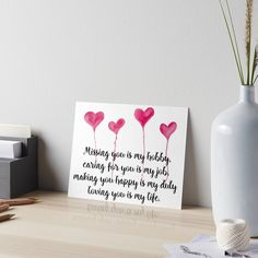 Love Quote for valentine's day  by cynthiacabello  Missing you is my hobby, caring for you is my job, making you happy is my duty, loving you is my live